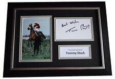 More details for tommy stack signed a4 framed autograph photo display grand national red rum coa