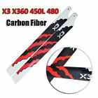 2 pairs 360mm Carbon fiber main rotor blades for 450L 480 X360 Helicopter