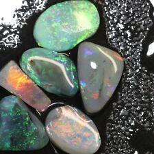 16.80 cts Australian Solid Black Opal, Rough Rubs, Lightning Ridge Parcel