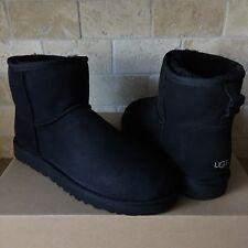 UGG Classic Mini Suede Sheepskin Black Winter Boots Size US 10 Mens