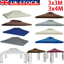 More details for 3x3m 3x4m garden gazebo top cover roof replacement tent canopy fabric 2-tier uk