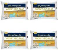 Serta Queen Standard Won't Go Flat Bed Pillows 4 Set Foam Comfort Sleep 2DayShip