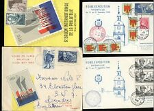 FRANCE 1948-50 STAMP EXHIBITIONS ILLUSTRATED...4 ITEMS...THIONVILLE + PARIS