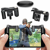 3Pcs Mobile Game Controller Shooter Trigger Fire Button for iPhone Android PUBG