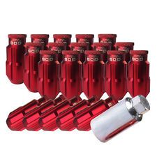 20 Red 50mm Extended Aluminum Wheel Lug Nuts M12x1.5 for Honda Toyota Camry