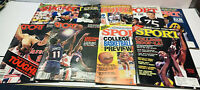 Lot Of 9 Vintage Sport Magazine Basketball & Football. From 1970's , 80's And 90