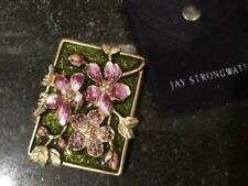 Jay Strongwater Dogwood Purse Mirror w/ Bag. 1/2 off Price!