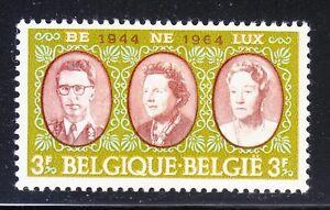 Belgium 1964 Mi 1366 Sc 616 King Baudouin,Queen Juliana & Grand Duchess Benelux