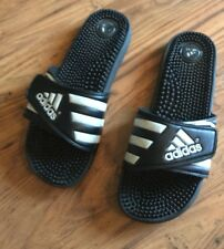 Adidas Black Slides Shower Athletic Swim Sandal Women's Sz  11