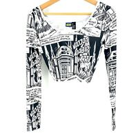 Size Small Star Wars Womens Cropped Long Sleeve Forever 21  C003