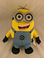 """Despicable Me Minions Dave Plush 11"""" Talks Eyes Light Up Universal Studios Toy"""
