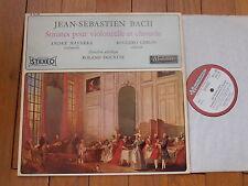BACH / A.NAVARRA cello - R.GERLIN clavecin LP STEREO MUSIDISC EX+