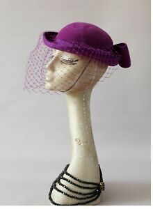 Vintage pillbox hat,Ascot, burlesque,wedding,races,church, turban hat,formal hat
