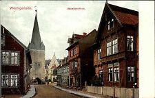 WERNIGERODE AK um 1910 Häuser Partie Westernthor Strasse mit Tor Turm ungelaufen