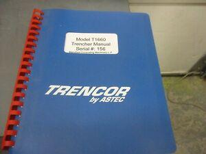 Astec Trencor  Model T1660 Trencher Manual