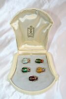 MAGNIFICENT 5P VICTORIAN 14K ENAMELED GOLD DIAMOND PEARL EMERALD SCARABS BROOCH'
