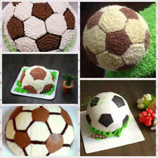 2pcs Aluminium ballon de foot Tin 3D Football de Pâtisserie Moule UK Stock C150