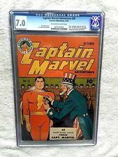 Captain Marvel Adventures #28 CGC 7.0 Fawcett Oct 43 Off-/Wht pgs FREE photocopy