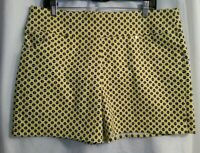 Women's Yellow Size 14 INC International Concepts Core Mid-Rise Shorts New Tags