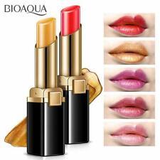 Shimmer Gold Lipstick Pigment Metallic Lip Gloss Makeup Long Lasting Eyeshadow