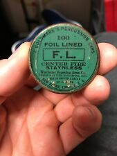 Winchester Goldmark's Percussion Caps Center Fire Primers Empty Tin Staynless