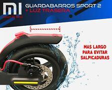 🛴 GUARDABARROS SPORT + LUZ TRASERA INCLUIDA  🛴 -  Xiaomi M365 - M187 - PRO