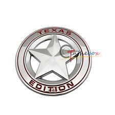 Silve Color Metal 3D Texas Edition Rear Emblem Badges Sticker For Ford Chevrolet