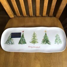 TOMMY BAHAMA Melamine Christmas Trees Merry Christmas Platter Tray NWT
