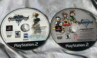 PlayStation 2 Kingdom Hearts 1 + 2  Disc Only Lot - TESTED ! Sony PS2