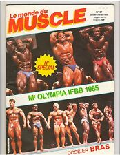 Le Monde du Muscle #57 French Bodybuilding Magazine/2-86 Mr Olympia Contest 1985