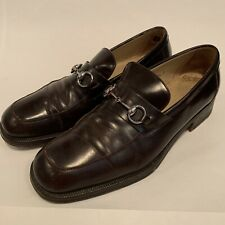 5a94a1417 Vintage GUCCI Brown Leather Horsebit Loafers 9.5 M/D U.S. 42.5 E.U.