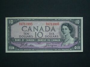 **Decent** $10  Coyne/Beattie  'GVF' Canada 1954 Banknote