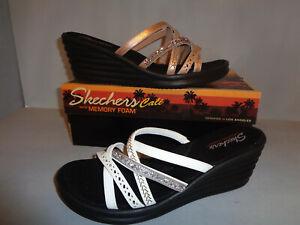 Skechers Women's Rumblers Wave New Lassie Wedge Sandals NIB NEW colors #31777