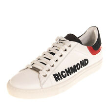 RRP €365 RICHMOND Leather Sneakers Size 43 UK 9 US 10 Logo Patch Low Top Lace Up
