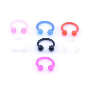 Bioflex PTFE UV Coloured flexible circular barbell horseshoe CBR