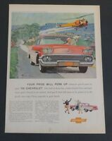 Original 1957 Print Ad CHEVROLET '58 Sirkovsky Helicopter Body by Fisher