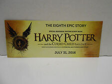 Harry Potter and the Cursed Child Parts I & II Bookmark Promo Card 2016 Rowling