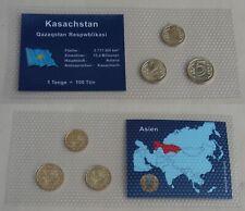 Kasachstan / Kazakhstan 1 + 2 + 5 Tenge im Blister unz