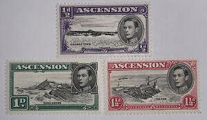 Travelstamps: 1938-53 ASCENSION Stamps Scott #40-KGVI Mint OG NH