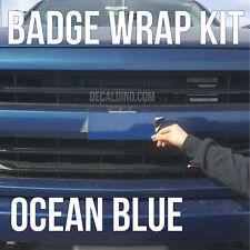 Ocean Blue Truck Emblem Wrap Kit - For Chevy Silverado BowTie Badge Color match