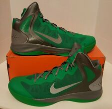 NIKE Hyperenforcer PE Men's SZ 18 NEW!! 487655 300 Lucky Green/Silver AIR BALL