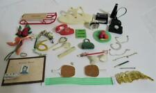 Vintage Ideal Tammy Pepper & other Doll Accessories Lot Sled Tv Phone Radio Etc.
