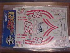 NEW 2000 GLENN ALLEN #38 BARBASOL 100TH START 1/24 SCALE WATER SLIDE DECAL SHEET
