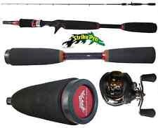kit canna bait casting 2.10m + mulinello rotante pesca black bass spigola luccio