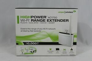 Amped Wireless High Power AC1750 Wi-Fi Range Extender REC33A plug in dual band