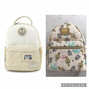 Loungefly 2 Mini Backpack Deal Star Wars Princess Leia Hoth & Droid C3PO & R2D2