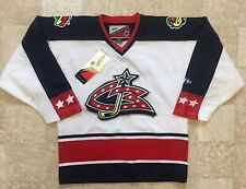 Vintage Retro Columbus Blue Jackets NHL Pro Player Jersey Size Small/Medium NWT!