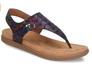 Comfortiva Calina Black Multi Thong Wedge Sandal Women's sizes 6-10/NEW!!
