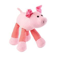 House of Paws Pig Squeaky Dog Toy | Plush Medium Large Squeaker Soft Animal Pink