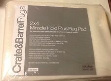 Crate & Barrel Rugs 2x4 Miracle Hold Non-slip Rug Pad Carpeted & Hard Surfaces